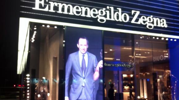 Vitrine de Magasin LED - boutique Ermenegildo Zegna